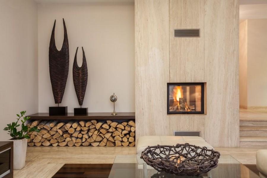 Дизайн декора каминов