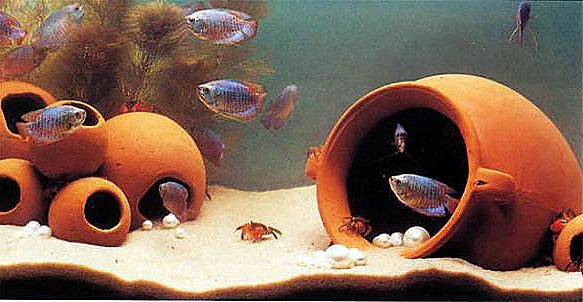 Песок в аквариуме своими руками